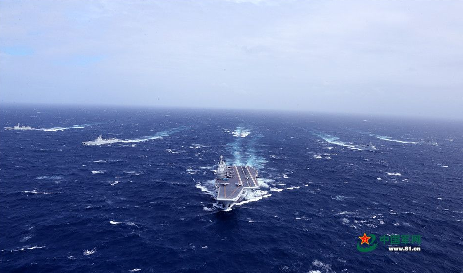 The Liaoning carrier strike group underway