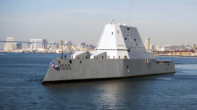USS Zumwalt to Conduct Brief Sea Trial This Week to Light Off Radar, Test Recent Fixes