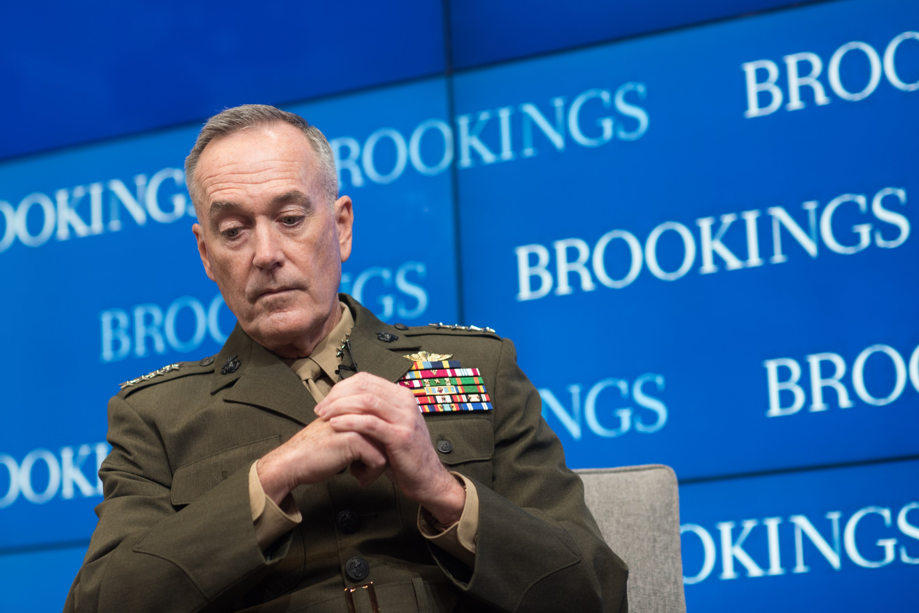 Gen. Joseph F. Dunford, Jr., chairman of the Joint Chiefs of Staff, at the Brookings Institute Feb. 23, 2017 in Washington, D.C. DoD Photo