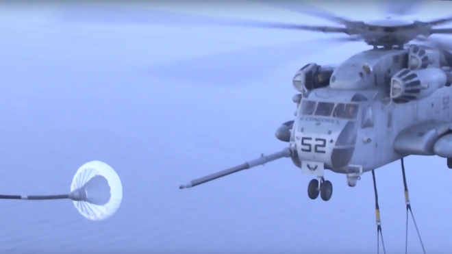 Video: Marine CH-53E Super Stallion Refuels in Midair