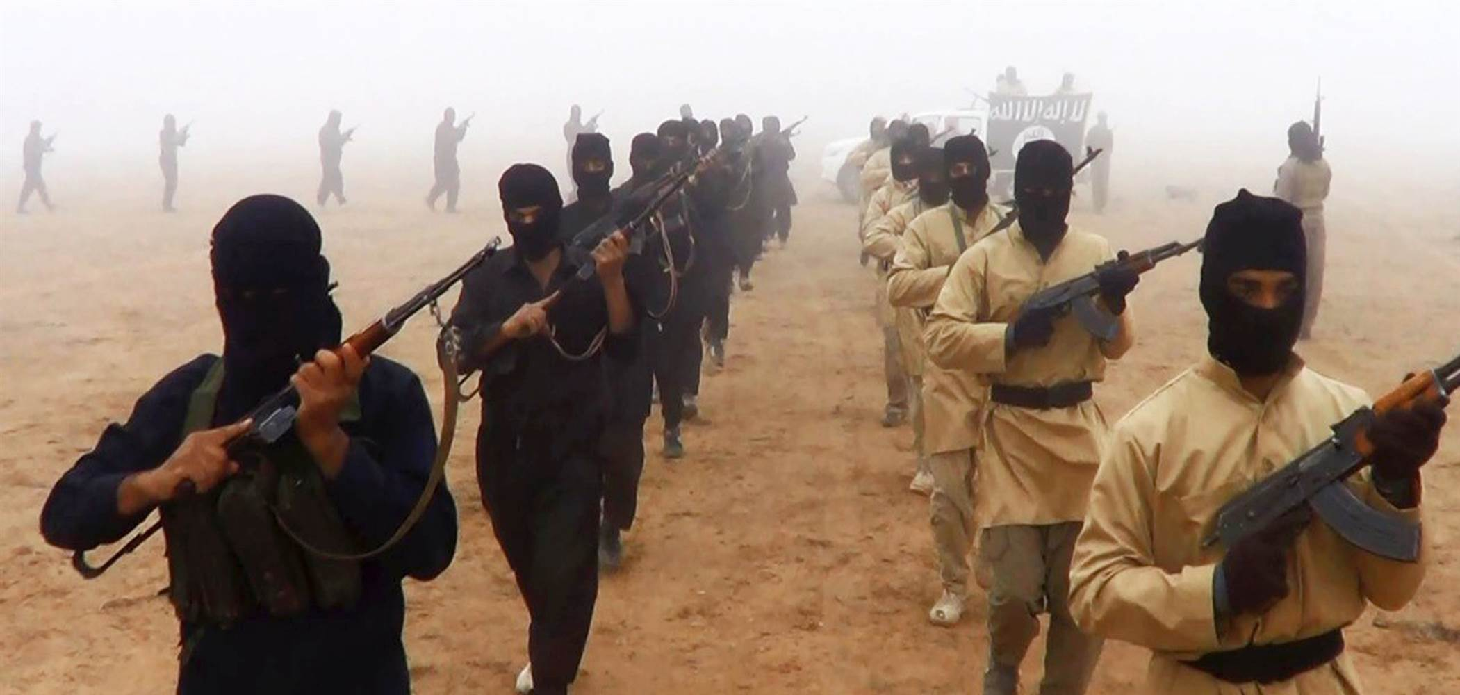 Undated photo of ISIS fighters.