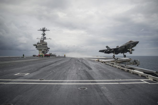 Bogdon: F-35C Tests Offer Proposed Fixes to Catapult Problem; Carrier Trials to Continue This Fall
