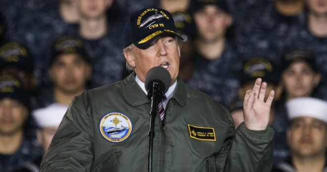 Trump: Carrier USS Gerald R. Ford '100,000-ton Message to the World'
