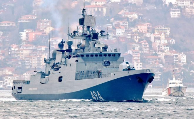 Advanced Russian Frigate Leaves Black Sea Heading for Syria