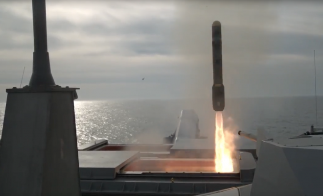 VIDEO: Navy Tests Anti-Swarm Boat Missile on Littoral Combat Ship USS Detroit