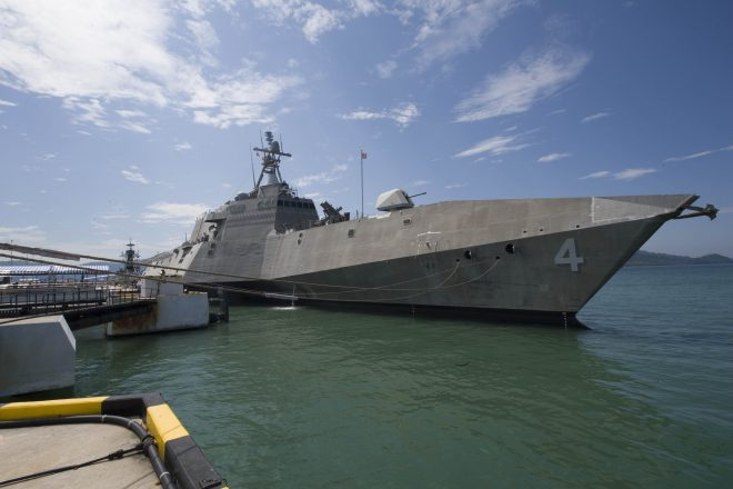 Forward Navy Maintainers Cutting Down on Repair Time on Littoral Combat Ships