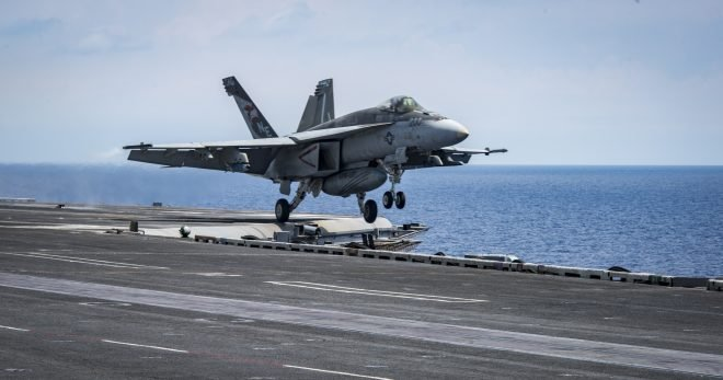 Super Hornet from USS Carl Vinson Crashes Near the Philippines, Pilot Safe