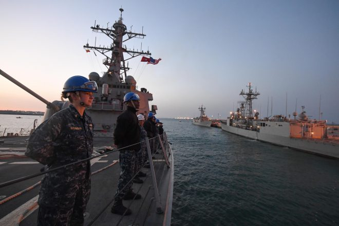 Destroyer USS Porter Returns to Homeport Following Tomahawk Strike; USS Ross Remains in Eastern Mediterranean