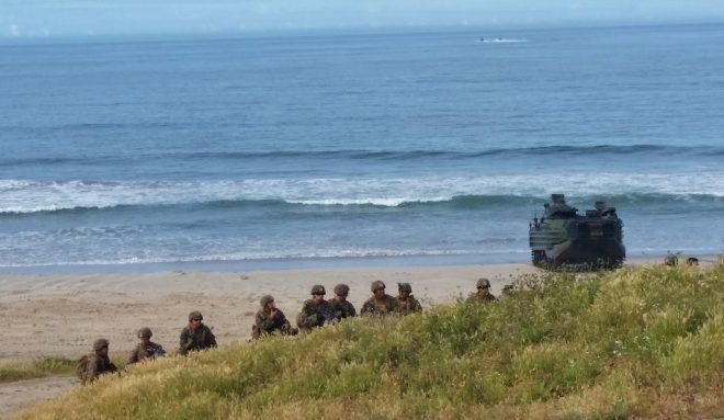 America ARG/MEU AAVs take point in 15th MEU Amphibious Assault Exercise