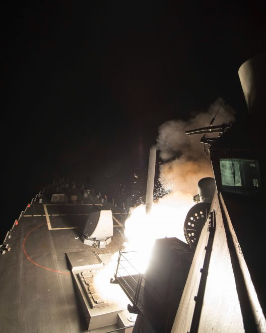 VIDEO: U.S. Destroyers Fire 59 Tomahawks on Syrian Airfield in Retaliation for Chemical Attack