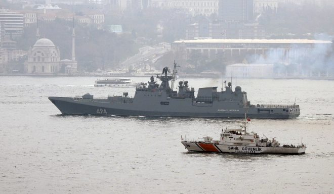 Russia Sends Frigate to Mediterranean Following U.S. Retaliation Strike; U.S. Destroyers Remain On Station