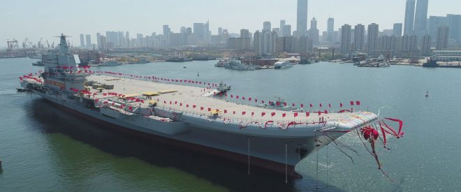 VIDEO: China Launches First Domestic Aircraft Carrier