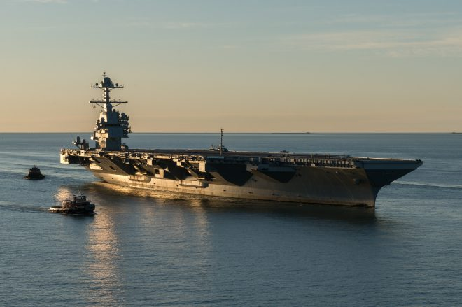 Carrier Ford to Begin Acceptance Trials this Month; Navy Expects Quick Delivery Afterwards