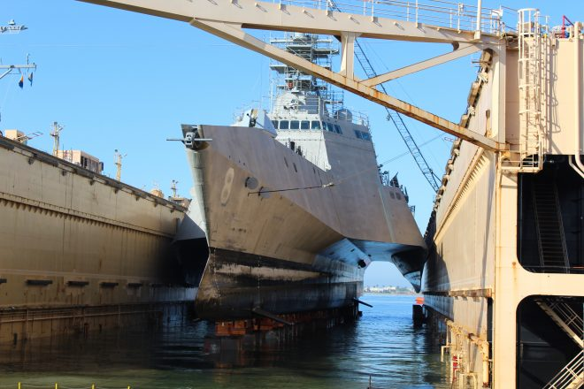 Video: Timelapse of USS Montgomery Entering Dry Dock