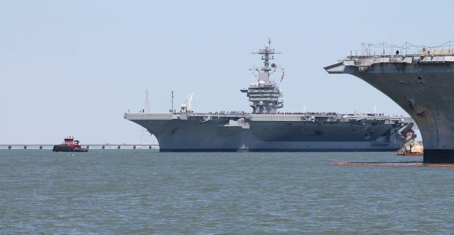 UPDATED: Carrier USS Abraham Lincoln Leaves Newport News on Sea Trials