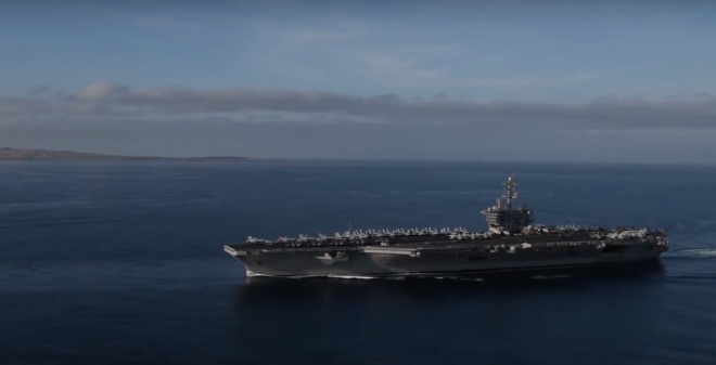 Video: USS Theodore Roosevelt Conducts Strait Transit Exercise