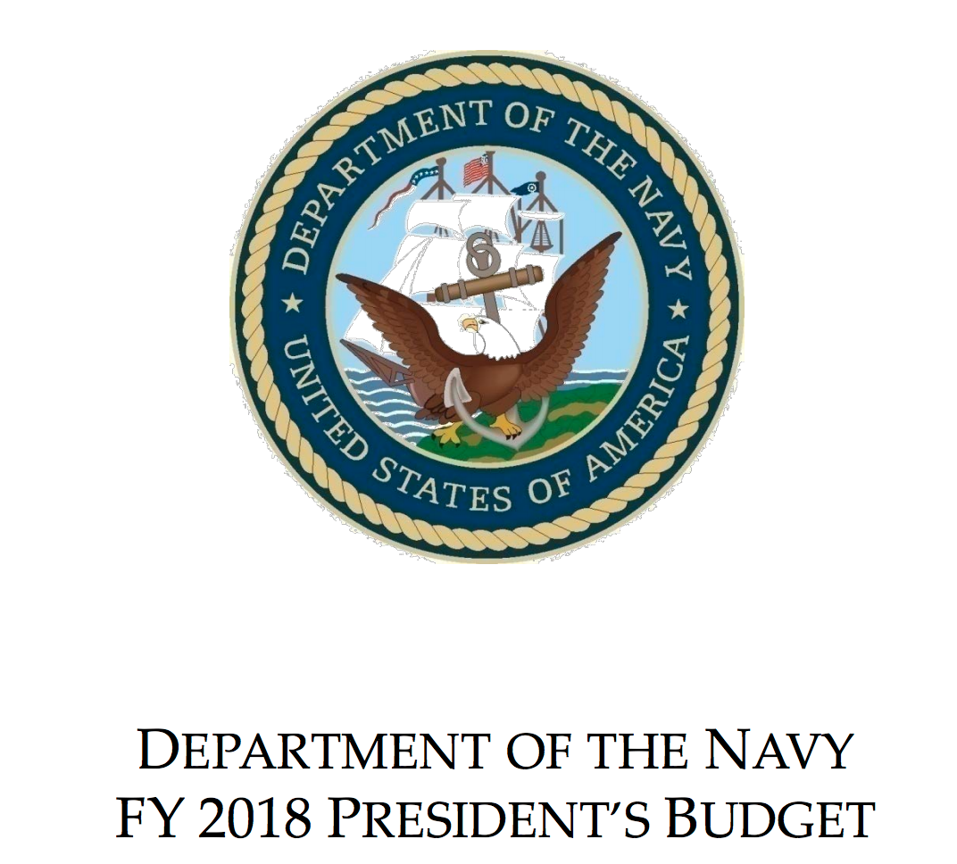 Document Fiscal Year 2018 Department Of The Navy Budget Overviews