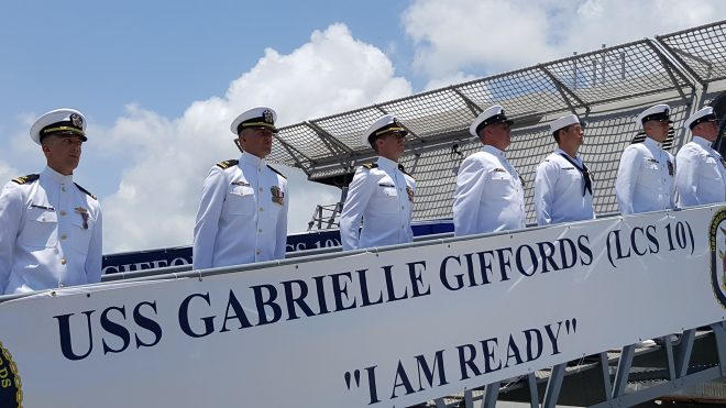 VIDEO: USS Gabrielle Giffords Commissions