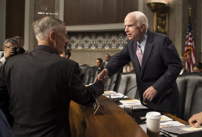 McCain: Where's the Strategy? Mattis: 'We're Working It'
