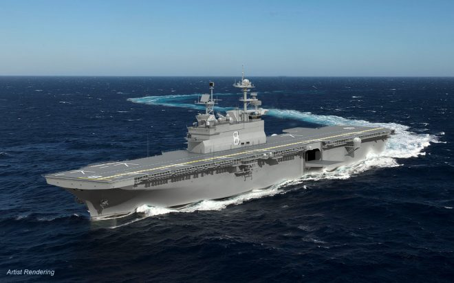Fabrication Begins on Future Big Deck USS Bougainville