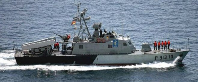 Iranian Navy Missile Boat Harasses Three U.S. Navy Ships, Marine Helo in Strait of Hormuz