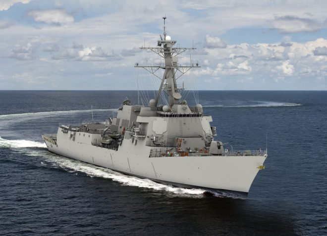 Huntington Ingalls Industries Awarded First Flight III Arleigh Burke Destroyer