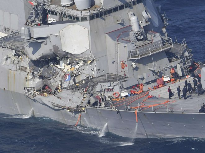 7 Sailors Missing, CO Injured After Destroyer USS Fitzgerald Collided with Philippine Merchant Ship