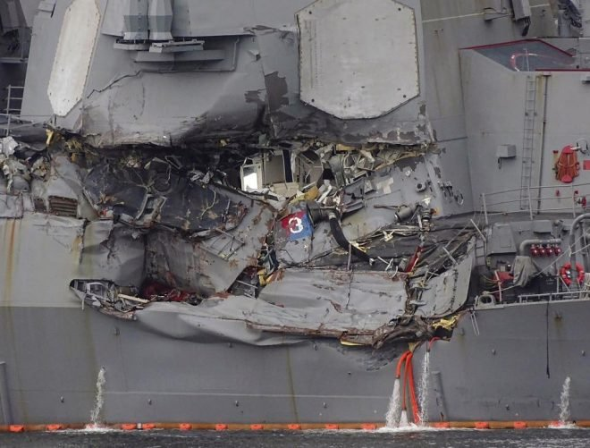 Navy Drops Homicide Charges Against USS Fitzgerald Commander, Junior Officers