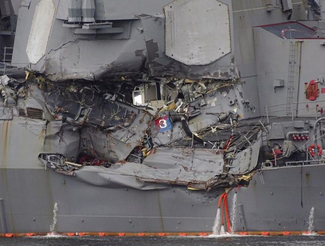 Investigators Believe USS Fitzgerald Crew Fought Flooding For An Hour Before Distress Call Reached Help