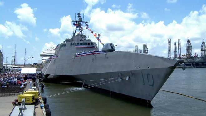 Littoral Combat Ship USS Gabrielle Giffords Arrives In San Diego After Panama Canal Transit