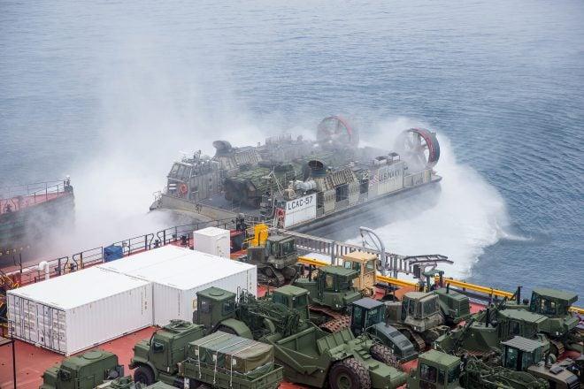 'Skin to Skin' Training: I MEF, Navy Sharpen Sea Logistics Skills During Pacific Horizon