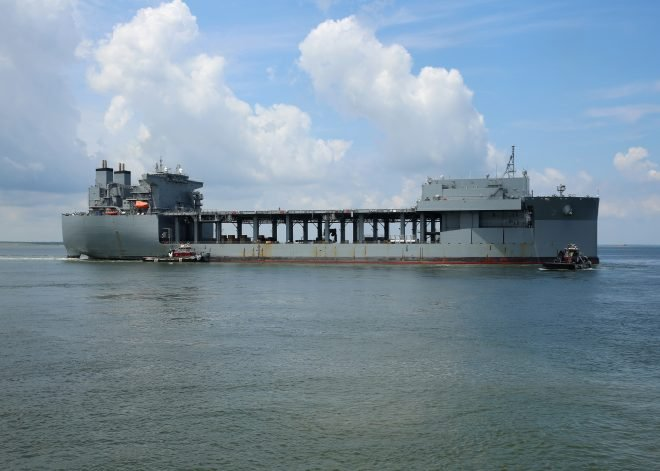 Expeditionary Sea Base USNS Lewis B. Puller Departs for Maiden Deployment