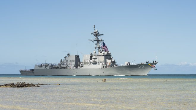 Navy Commissions First Arleigh Burke Restart Destroyer USS John Finn