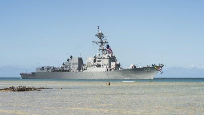 Navy Commissions First Arleigh Burke Restart Destroyer USS John Finn
