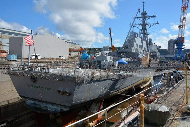 New Dry Dock Photos Show the Scope of Hidden USS Fitzgerald Damage