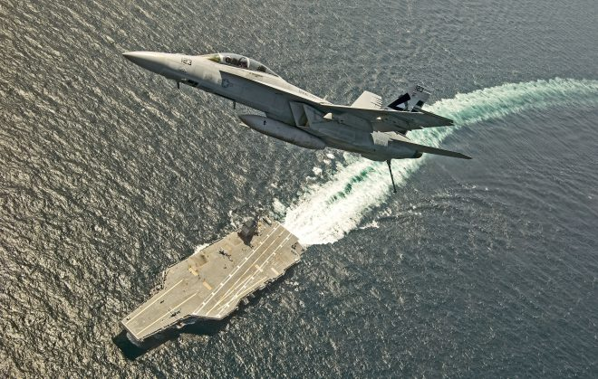 Navy: Ford's Advanced Arresting Gear Will be Ready for Fleet Super Hornets, Growlers by End of Year