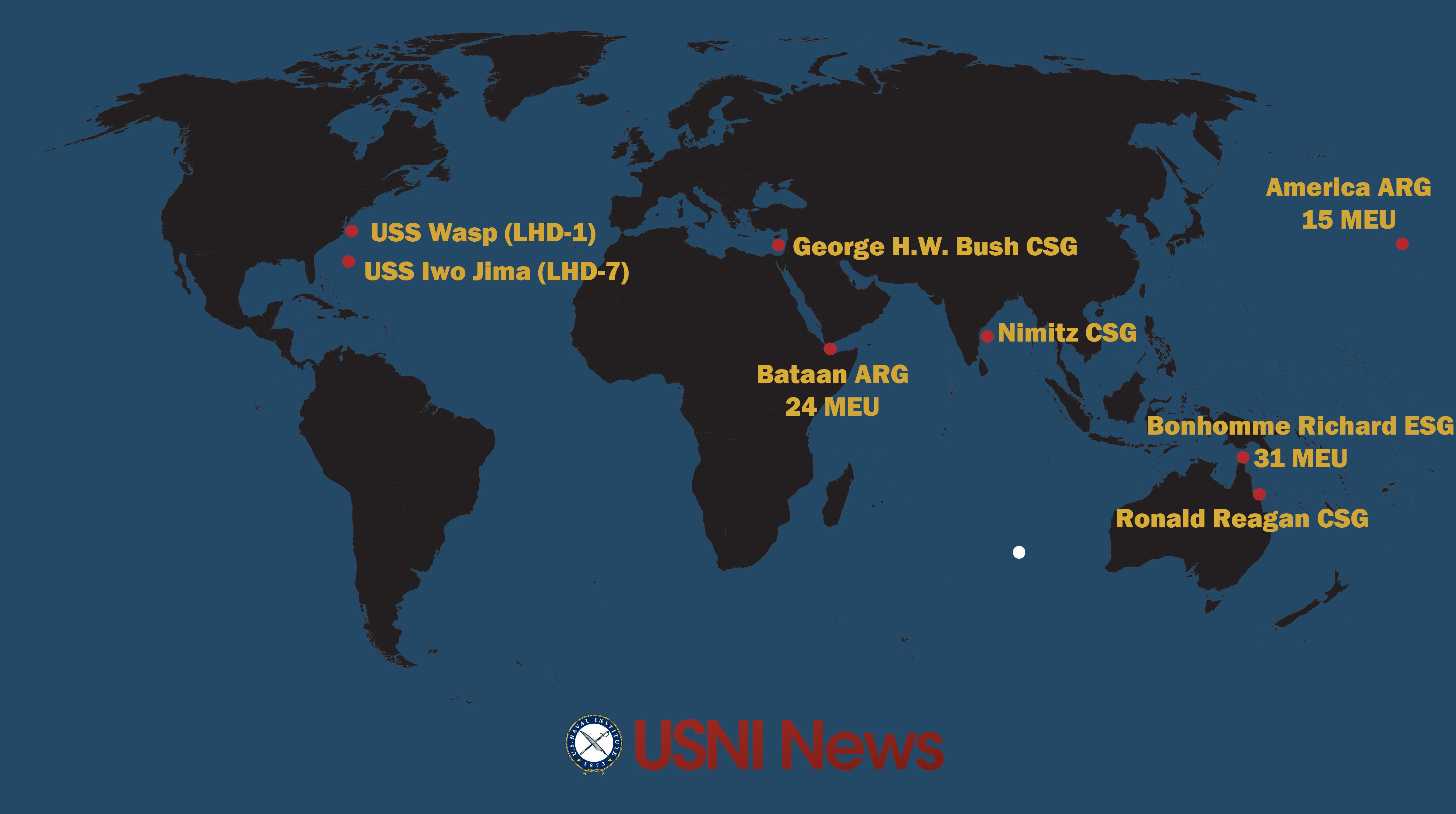 USNI News Fleet and Marine Tracker: July 10, 2017 - USNI News