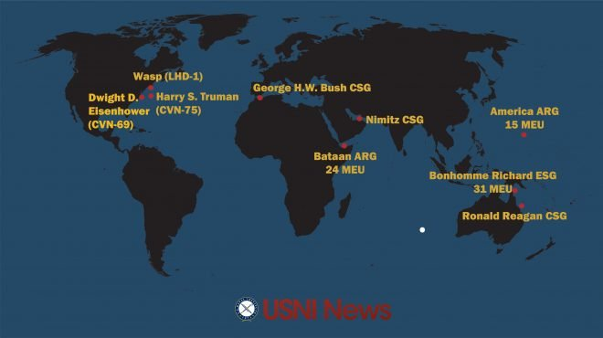 USNI News Fleet and Marine Tracker: July 24, 2017