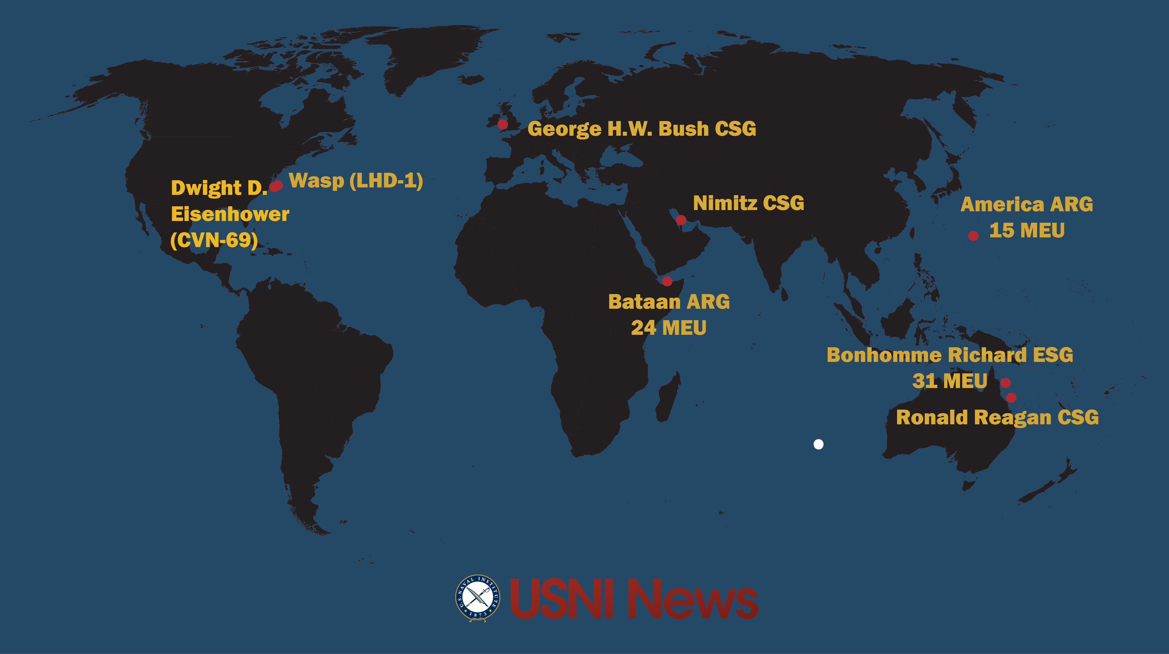 USNI News Fleet And Marine Tracker July USNI News - 2017 july 31