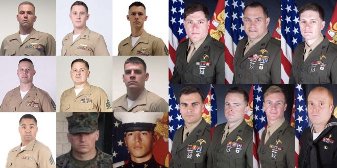 Marine Corps Releases Identities of 16 Servicemen Killed in KC-130T Crash
