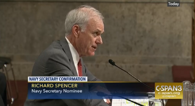 SASC Advances Richard V. Spencer SECNAV Nomination