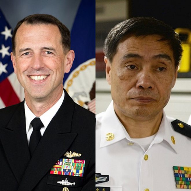 Head of U.S., Chinese Navies Talk North Korea, Bilateral Naval Engagements
