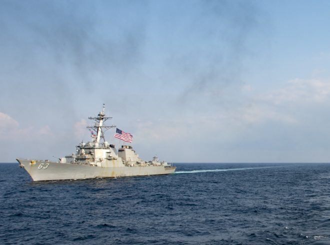 U.S., Japanese Warships Search South China Sea for Sailor Missing from USS Stethem
