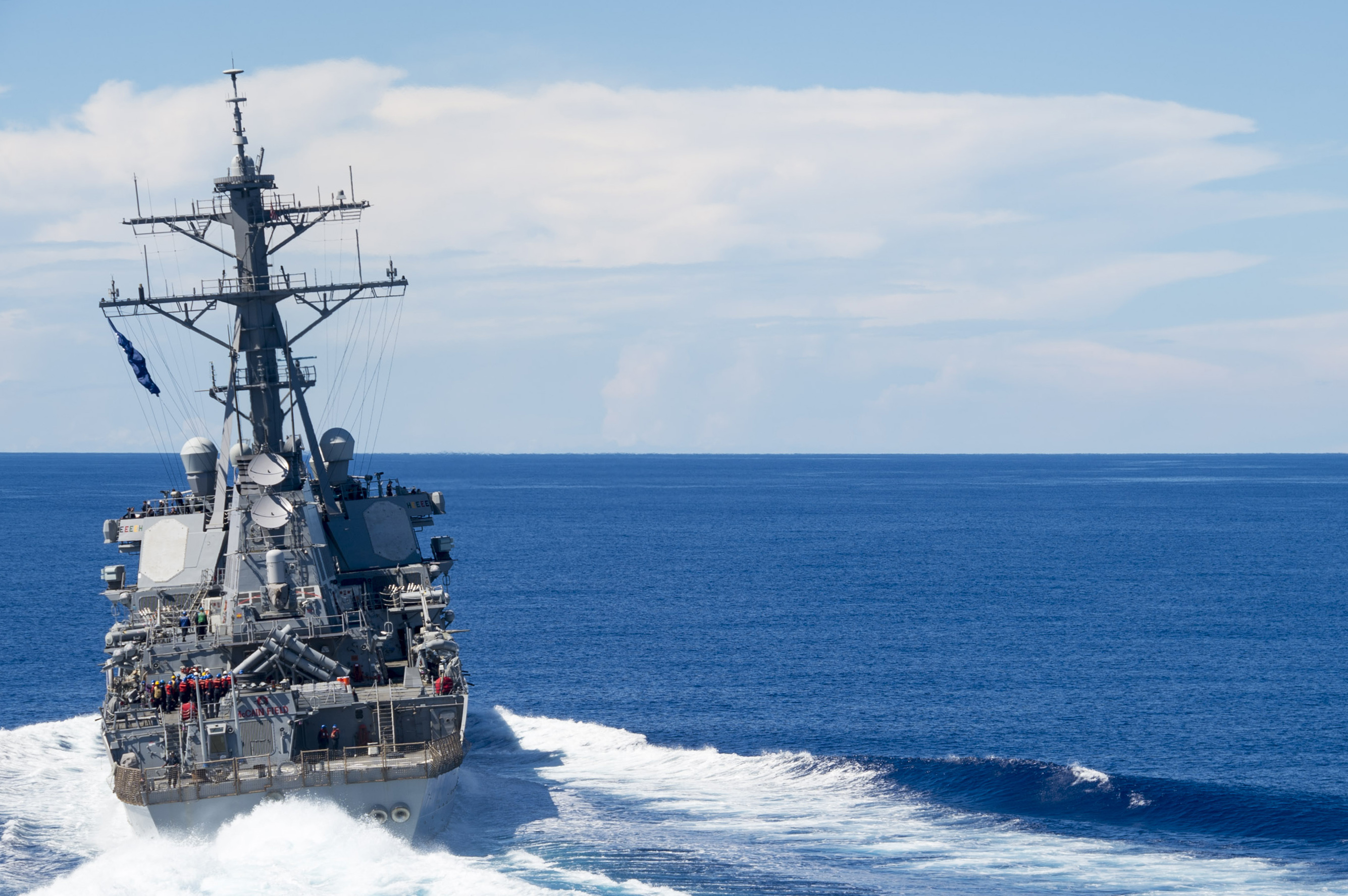 UPDATED: USS John McCain Collides with Merchant Tanker in the South China Sea; Ship Underway on its own Power - USNI News