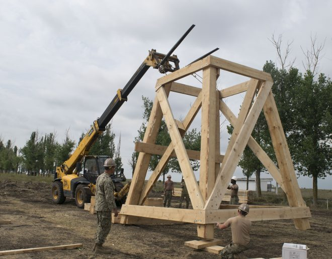 U.S. Navy Seabees Building Maritime Operations Center on Black Sea Coast