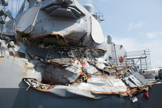$3.1 Million Contract Awarded to Transport USS Fitzgerald From Japan to Mississippi Shipyard