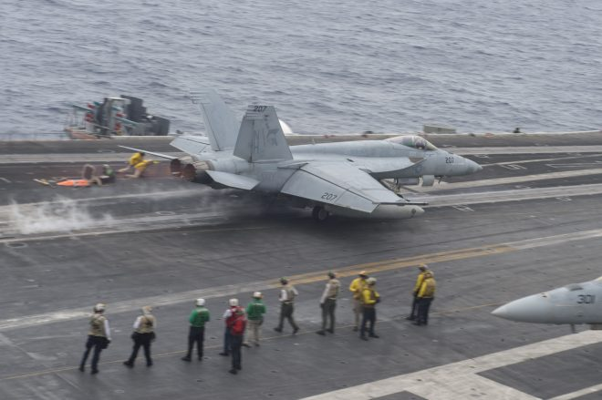 UPDATED: Iranian Drone Harasses F/A-18E Super Hornet Preparing to Land on USS Nimitz