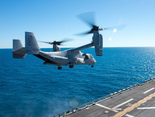 Search Suspended for 3 Marines Missing After MV-22 Crash