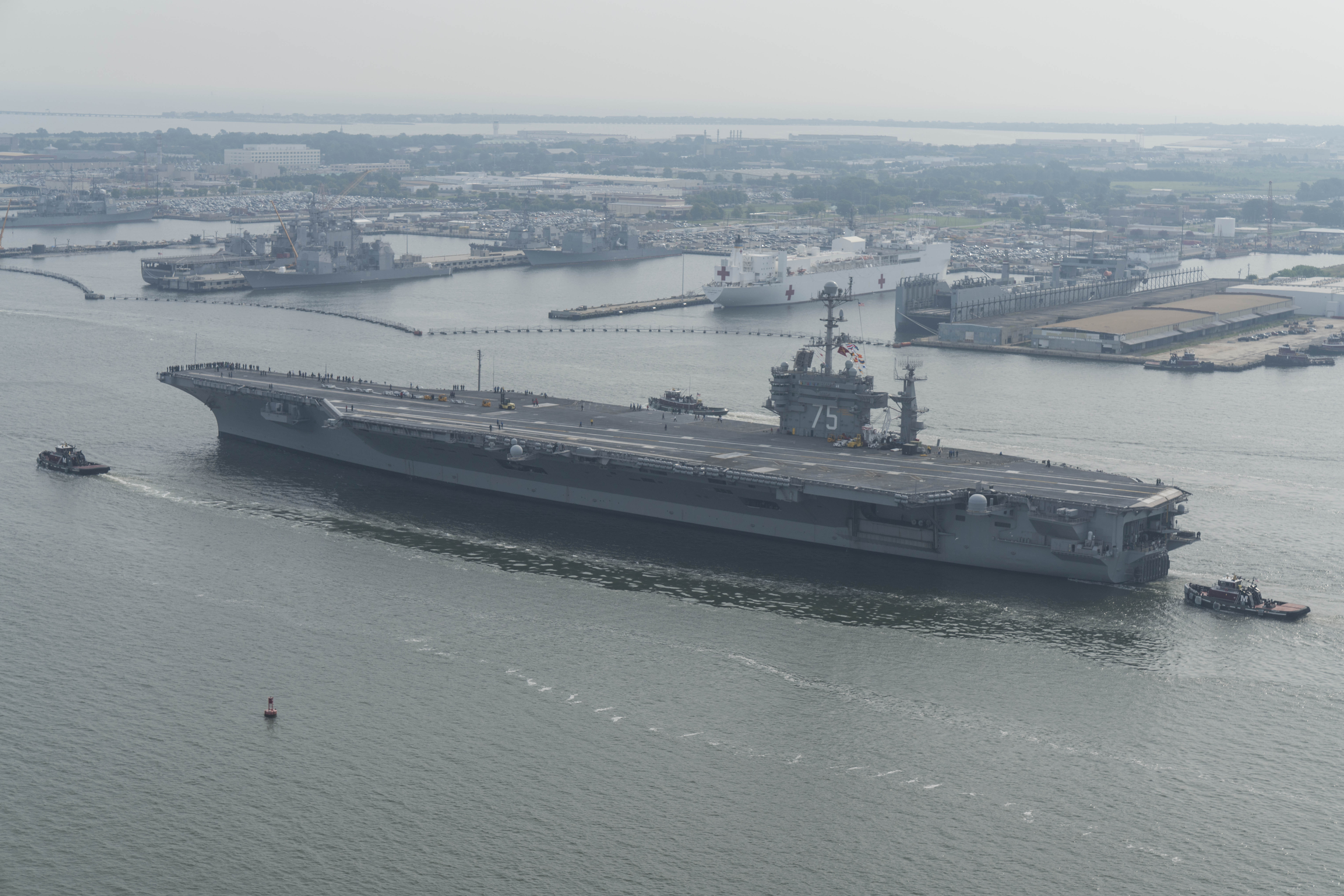Norfolk Aircraft Carriers Seeing Success in OFRP Schedule