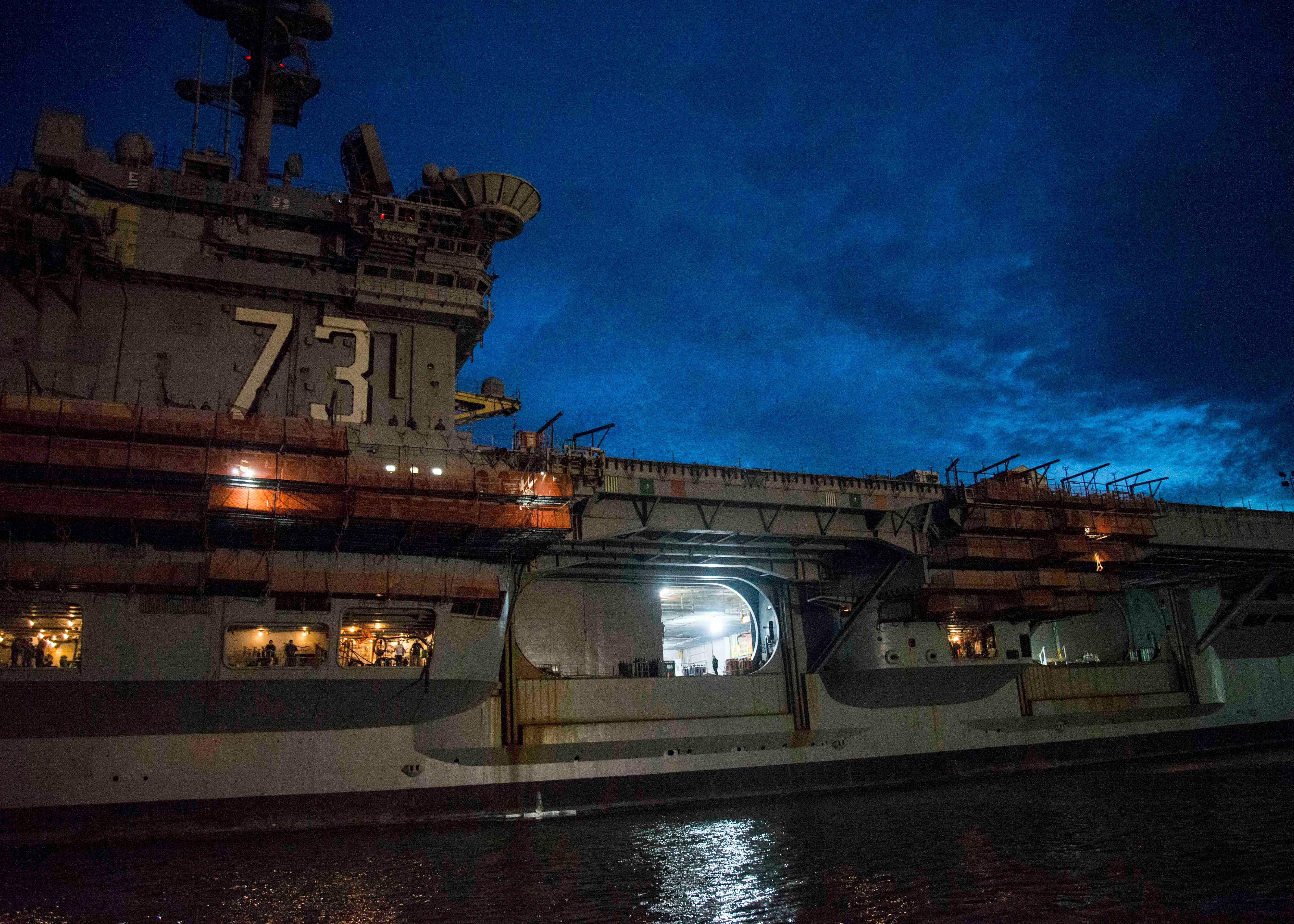 USS George Washington Begins Midlife Refueling, Overhaul